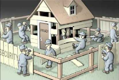 Removing planks from the house of privacy to build the fence of false security